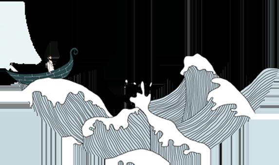 bateau-vagues