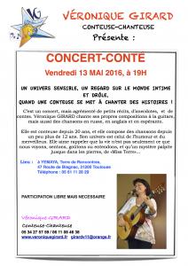 Annonce Concert Conté à Yemaya